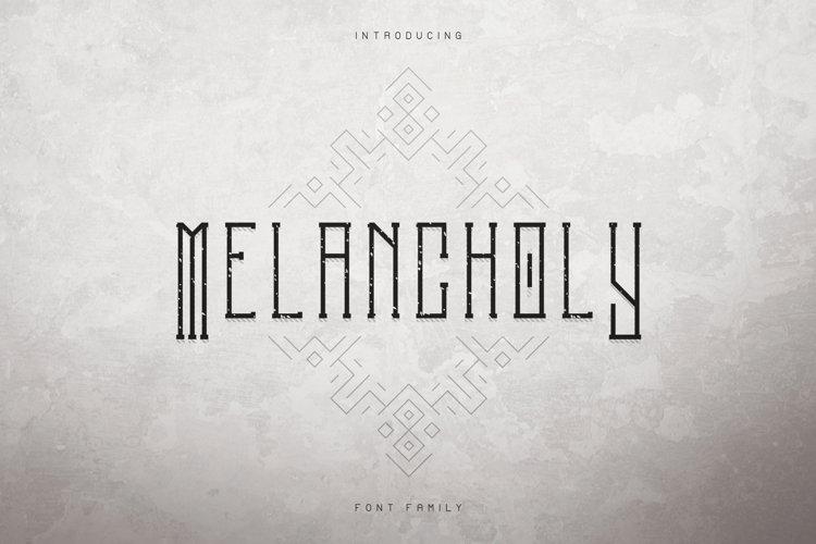 Melancholy Display Typeface Extra example image 1