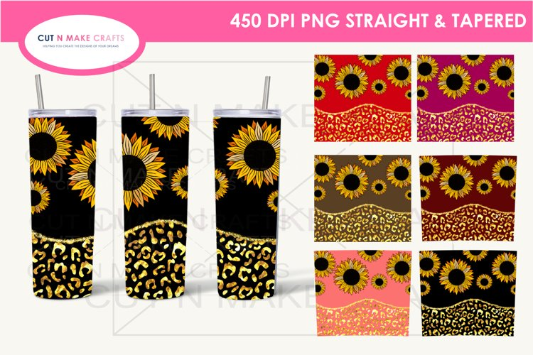 7 Sunflower 20 Oz. Skinny Tumbler Sublimation Bundle example image 1