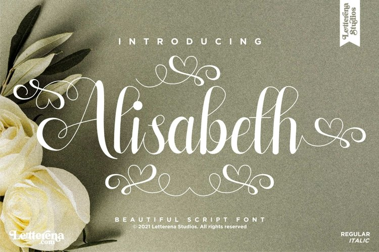 Alisabeth - Beautiful Script Font example image 1
