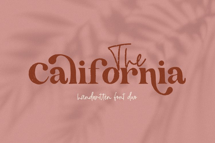 The California - A Serif/Script Handwritten Font Duo example image 1