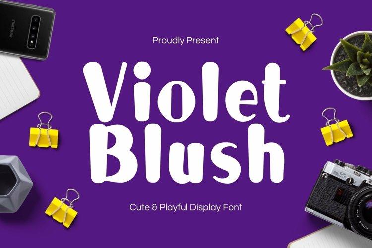 Web Font Violet Blush Display Font example image 1
