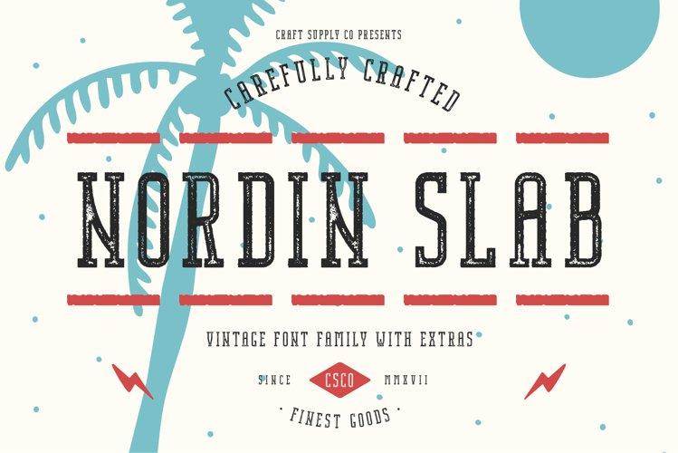 Nordin Slab Vintage Font Family example image 1