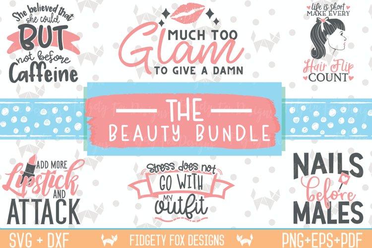 Glam Beauty Bundle Svg Dxf Eps Pdf Png