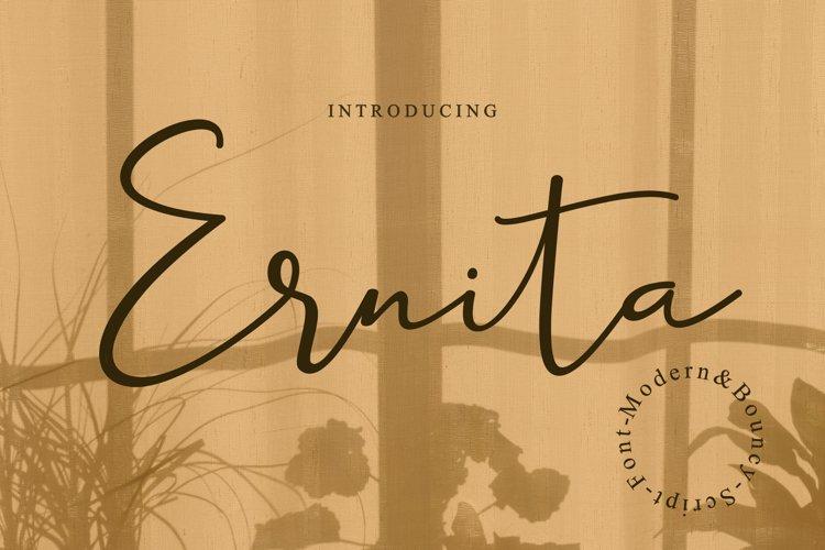 Ernita   Script Font example image 1