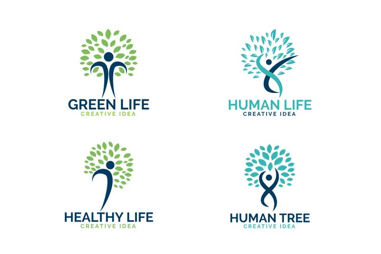 Abstract human health logo set. example image 1