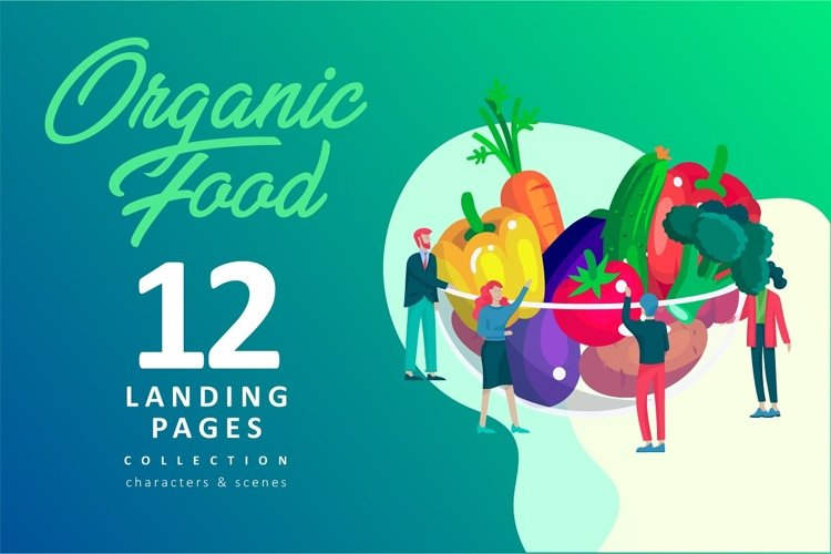 Organic food & Cooking people example image 1