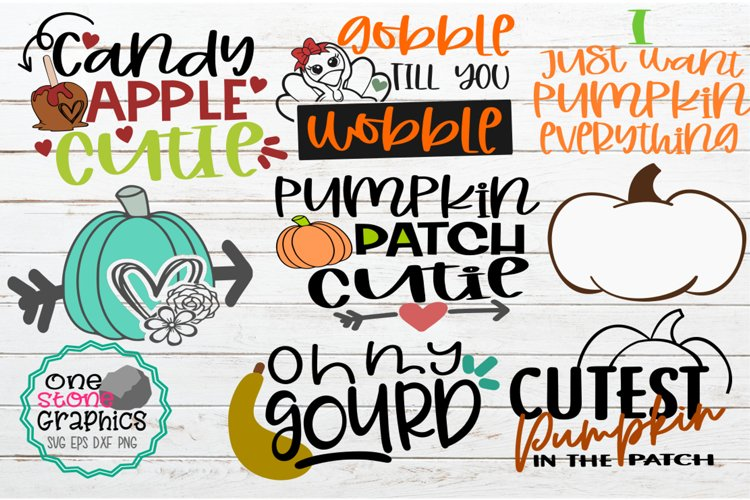 Fall bundle svg,fall svgs,pumpkin svg,gourd svg,cutie svg