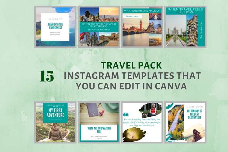 Instagram Post Template- Travel Blogger example image 1