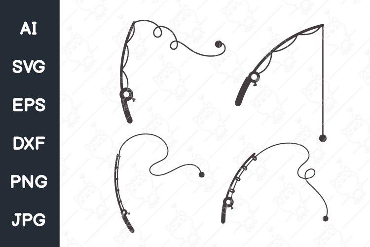 Download Fishing Rod Svg Fishing Hook Fisherman Digital Download 1291877 Cut Files Design Bundles