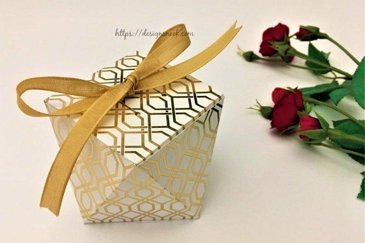 Geometric box template, unique shape box, gift box, treat