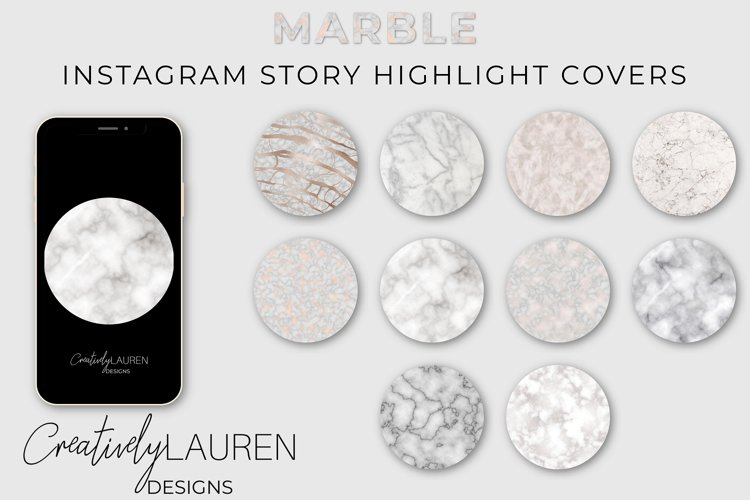 Marble Instagram Highlight Covers example image 1
