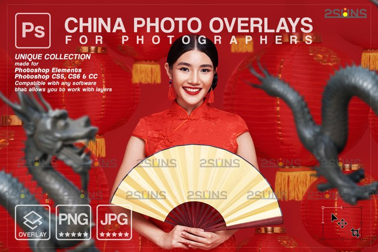 Lunar New Year photo overlay China png example image 1