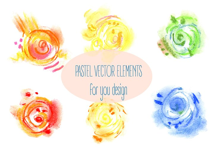 Abstract vector pastel elements example