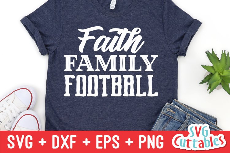 Football SVG | Faith Family Football | Shirt Design example image 1