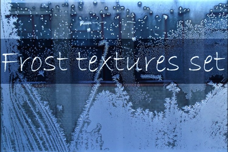 Winter windows with frost textures example image 1