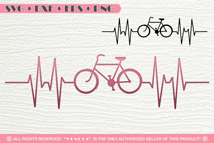 Bicycle  Hearbeat  EKG   SVG DXF PNG EPS Cutting File