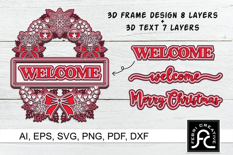 3d Layered Christmas SVG Frames | Multi Layered example image 1