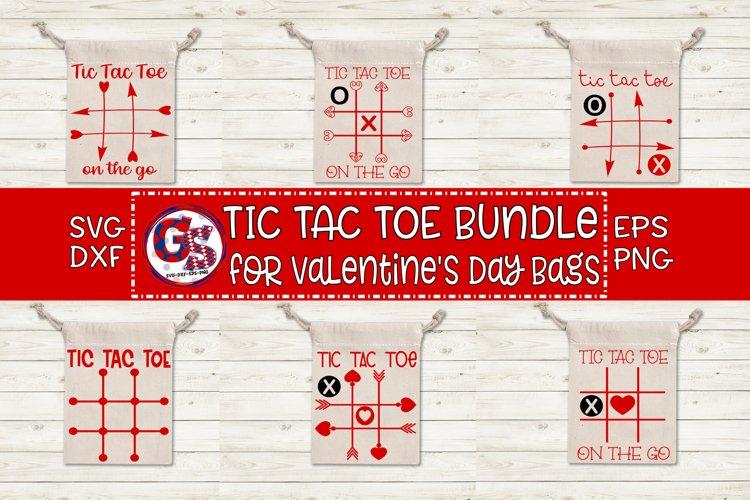 Valentine's Day | Tic Tac Toe Bundle SVG DXF EPS PNG example image 1