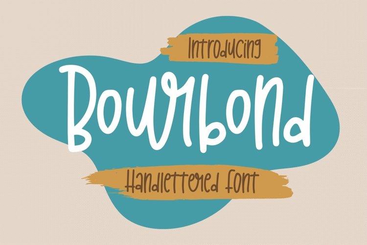 Web Font Bourbond - Handlettered Font example image 1