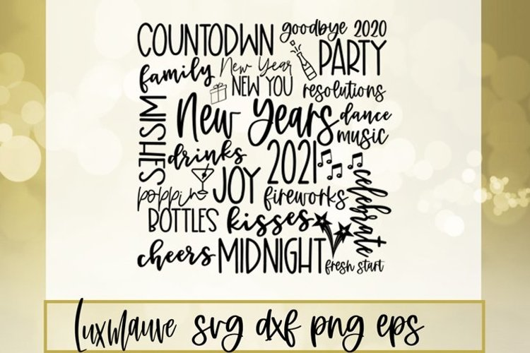 2021 New Year SVG example image 1