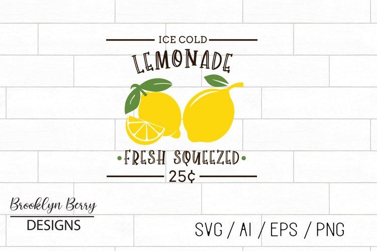 Lemonade Sign SVG example image 1