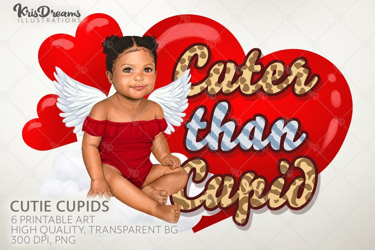 Valentine Sublimation Download, Printable Art, Cupid Clipart