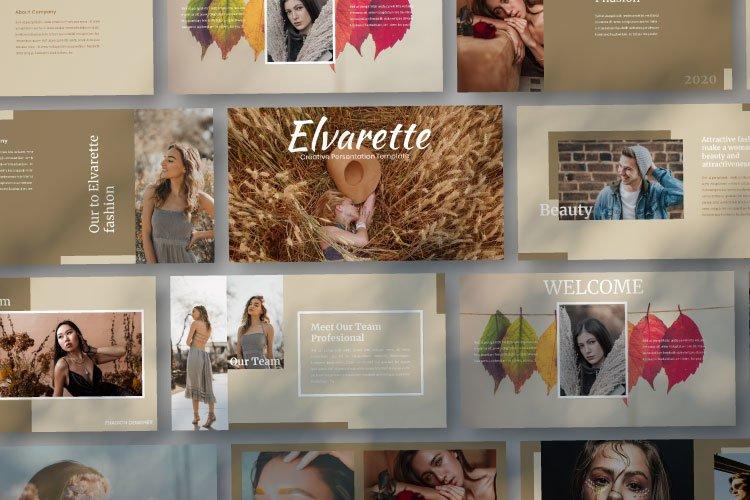 Elvarette - Creative Google Slides Template example image 1