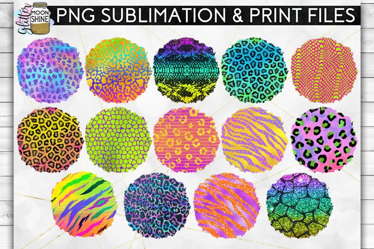Colorful Animal Print Bundle 42 Sublimation Background PNG example 2