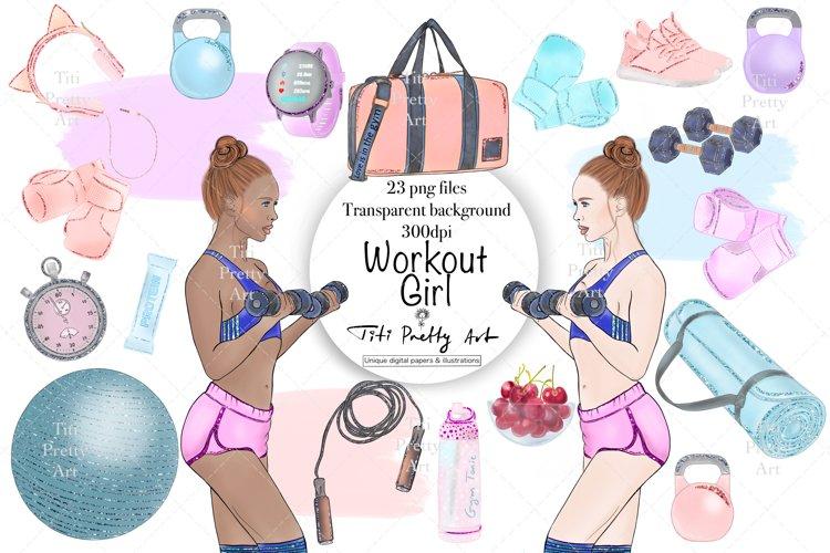 Gym Clipart, Sport Illustrations, Workout Bundle, Fit