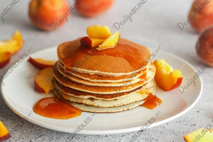 Pancakes with apricot jam example image 1