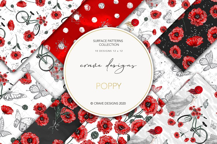 Poppy Seamless Patterns example image 1