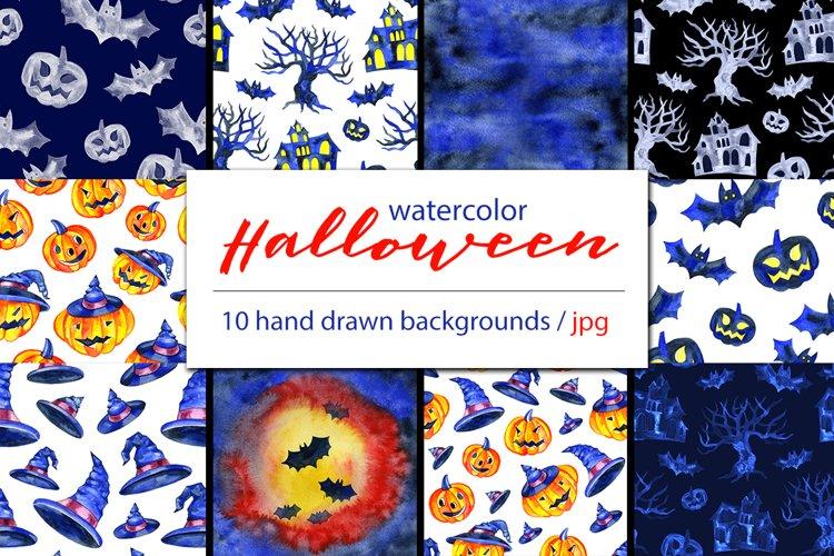 Watercolor Halloween backgrounds example image 1