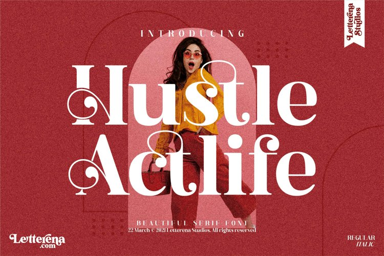 Hustle Actlife - Beautiful Serif Font