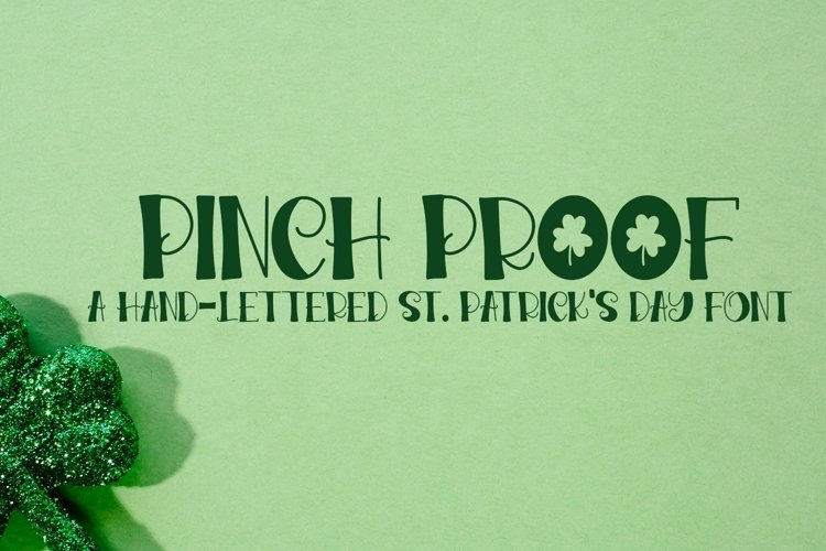 Web Font Pinch Proof - A Hand-Lettered St. Patrick's Day Fon example image 1