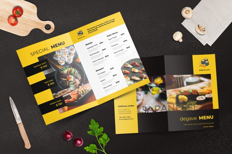 Bifold Restaurant Menu Template example image 1