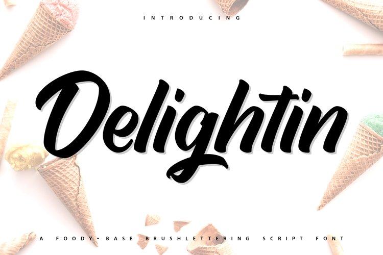 Delightin   Foody Brush Lettering Script Font example image 1