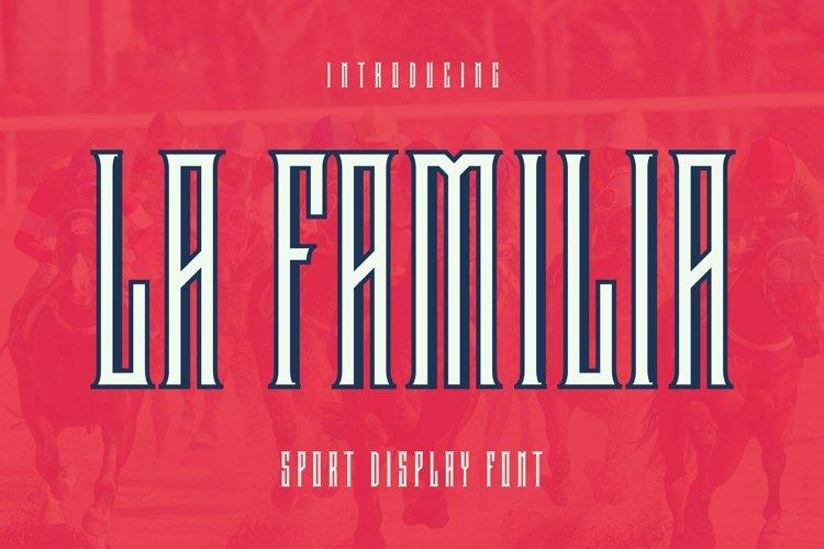 Web Font LaFamilia Font example image 1