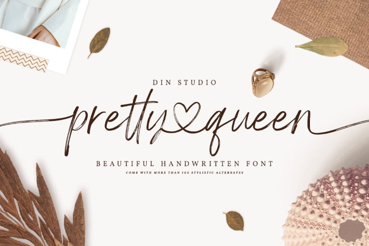 Pretty Queen Lovely Brush Font example image 1