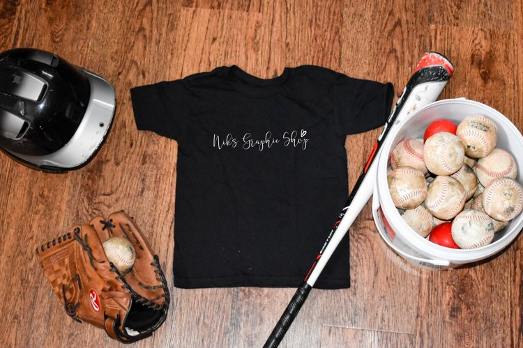 Kids T-Shirt Mockup, Baseball Kids Mockup JPG