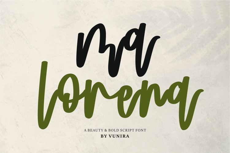 Ma Lorena | A Beauty & Bold Script Font example image 1