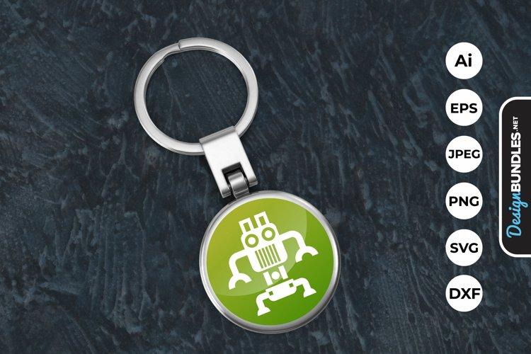 Robot Icon Keychain example image 1