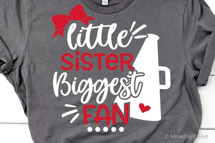 Football Sister Svg, Little Sister Biggest Fan Megaphone Svg