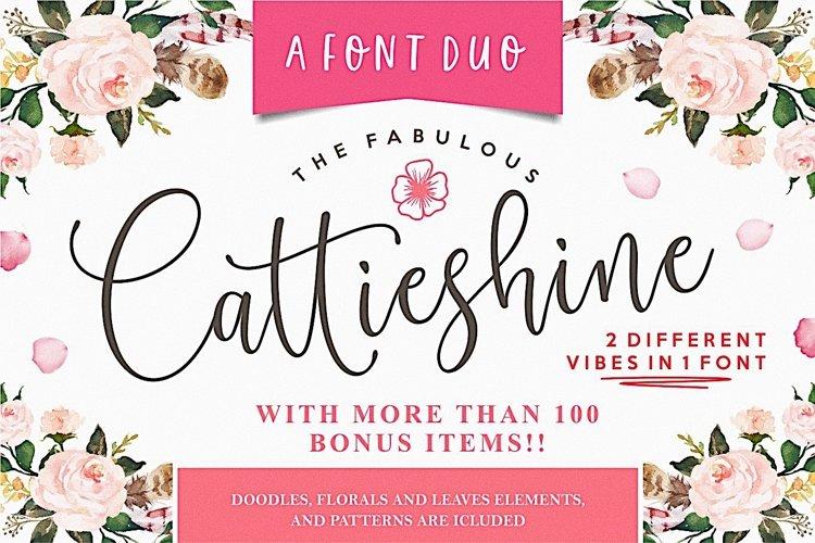 Cattieshine - Font Duo example image 1