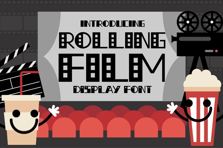 Rolling Film Font example image 1