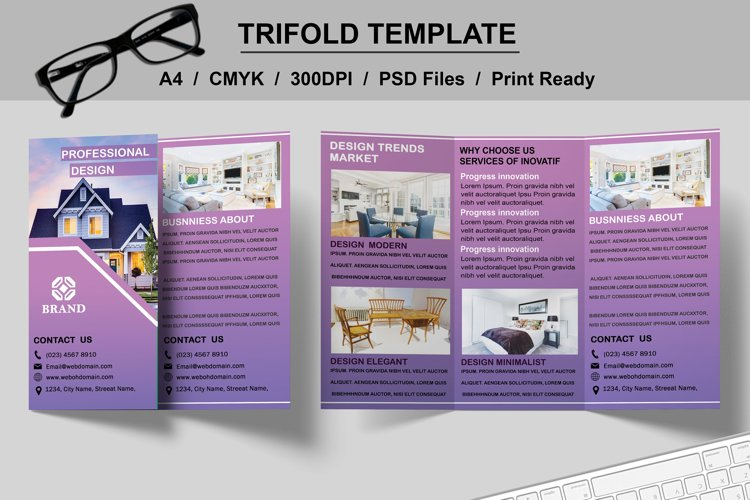 Interior Trifold Template