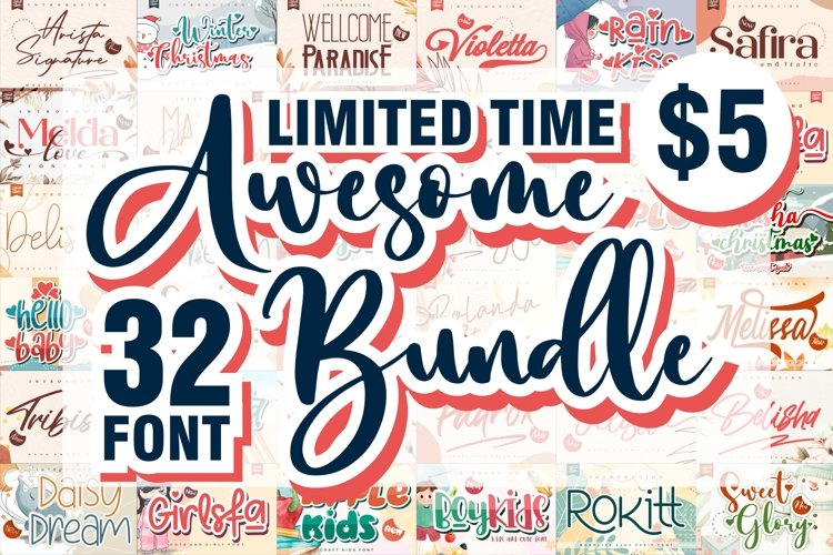 BIG BUNDLE - Awesome Font Collection for your needs example image 1
