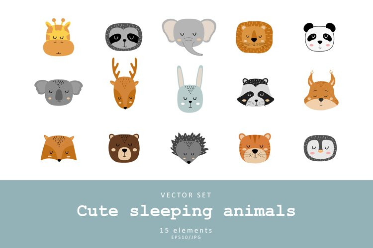 Cute animal faces example image 1
