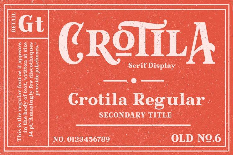 Crotila - Serif Display example image 1