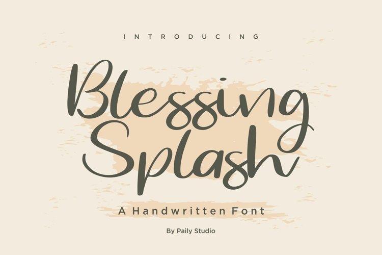 Blessing Splash Handwritten Font example image 1