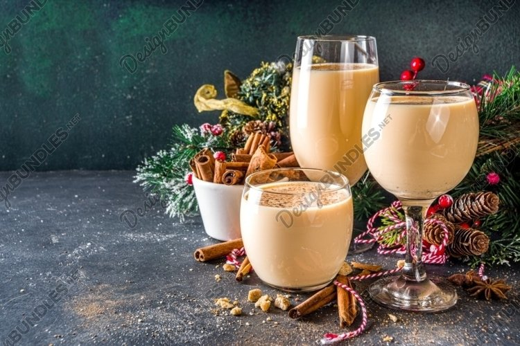 Christmas eggnog drink example image 1